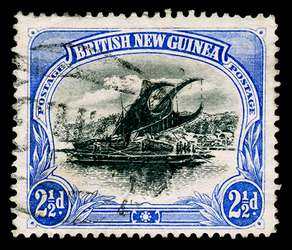 Papua New Guinea Stamp - 1901 2-1/2p ultramarine Lakatoi