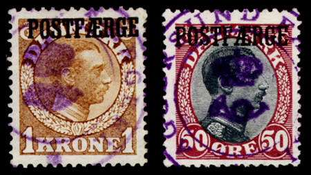 Genuine Aggersund violet cancellations
