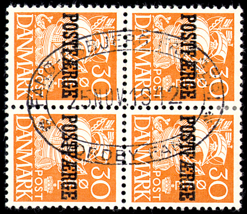 Genuine: One of the several types of double-oval Nordy-Fano cancellations .